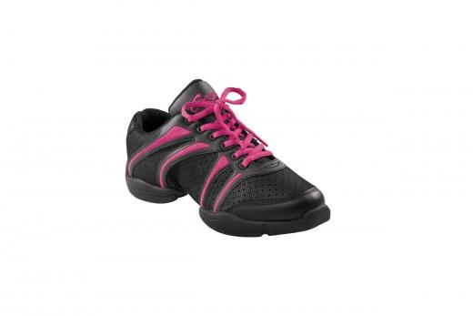 Capezio Sneaker DS30 Bolt Schwarz Pink Tanzsneaker Restposten