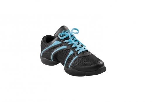Capezio Sneaker DS30 Bolt Schwarz ice blau Tanzsneaker Restposten