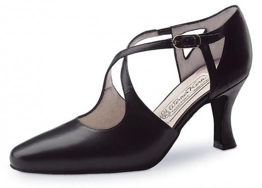 Werner Kern Damen Tanzschuhe Ines schwarz mit 6,5cm Absatz