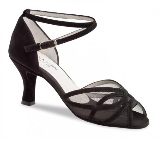 Anna Kern 740 Damen Tanzschuhe 740-60 schwarz mit 6cm Absatz