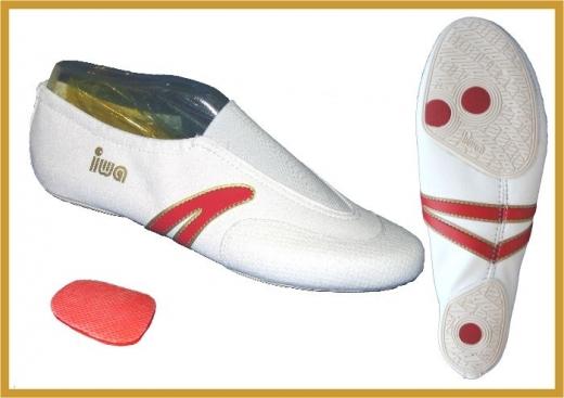 IWA 503 Kunstturnschuhe Modell 503 weiss mit roten Streifen