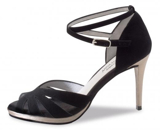 Anna Kern 910 Damen Tanzschuhe 910-80 schwarz mit 8cm Absatz