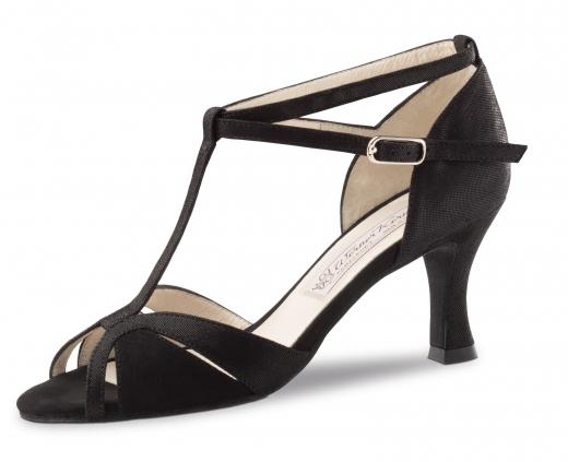 Werner Kern Tanzschuhe Ida schwarz mit 6,5cm Absatz für schmale Füße