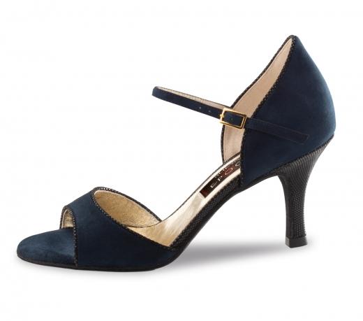Nueva Epoca Damen Tanzschuhe Nueva Epoca Nanda Ariel/schwarz Blau/schwarz Damentanzschuhe