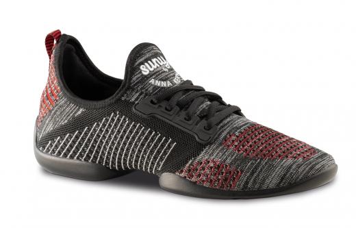 Anna Kern Tanzsneaker 115 Pureflex Sneaker mit geteilter Sohle schwarz/Rot