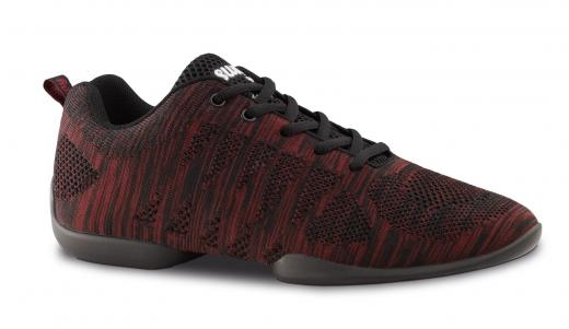 Anna Kern Tanzsneaker 135 Bold schwarz/rot  Sneaker mit geteilter Sohle