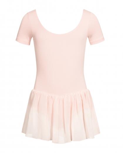 Rumpf 3040 Kinder Ballett Trikot Anzug Ballettkleid R3040  Rosa und Weiss