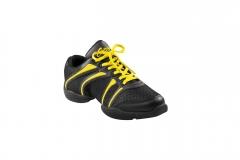 Capezio Sneaker DS30 Bolt Schwarz gelb Tanzsneaker Restposten