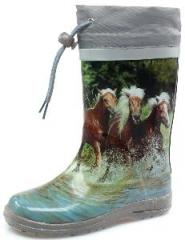 Beck Kinder Gummistiefel Regenstiefel Mädchen 804 Pferde