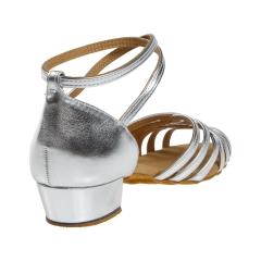 Diamant 008-035-013 silber Damen  Tanzschuhe 008-035-013 mit 2,8cm Absatz Inkl. Mc-Tanz Aufraubürste