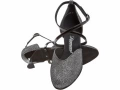 Diamant 170-106-520 Damen Tanzschuhe 170-106-520 schwarz silber Brokat mit 5cm Absatz Inkl. Mc-Tanz Aufraubürste