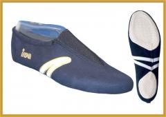 IWA 499 Kunstturnschuhe Modell  499 blau mit weissen Streifen