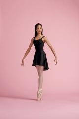 Capezio Ballettrock 260 in schwarz und Bordeaux Rot