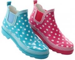 Beck Damen Gummistiefel Regenstiefel 823 Lifestyle Pink und Türkis