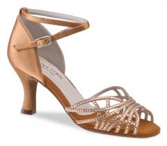 Anna Kern 700 Damen Tanzschuhe 700-60 bronce  Damentanzschuhe mit 6cm Absatz