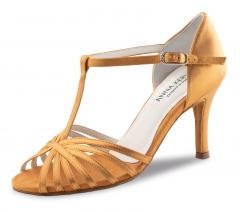 Anna Kern 850 Damen Tanzschuhe 850-75 bronce  Damentanzschuhe mit 7cm Absatz