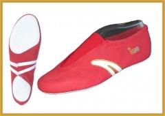 IWA 500 Kunstturnschuhe Modell  500 Rot  mit weissen  Streifen