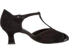 Diamant Damen Tanzschuhe 068-069-008 schwarz mit 5cm Absatz Inkl. Mc-Tanz Aufraubürste